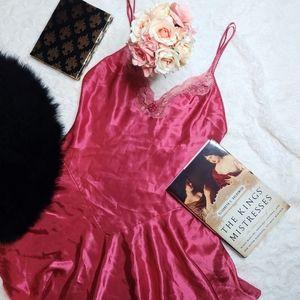 Vintage Amelia's Rose Pink Nightie Lingerie